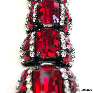 MOANS Jewelry - MOANS Ruby Stones Statement Fashion Bracelet NEW